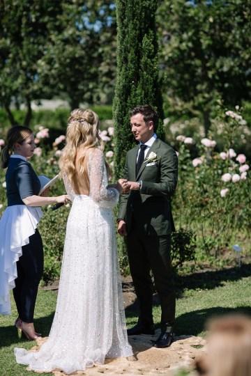 Chic Australian Garden Wedding with A Sparkling Wedding Dress – David Campbell Imagery 15