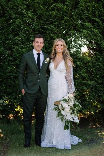 Chic Australian Garden Wedding with A Sparkling Wedding Dress – David Campbell Imagery 18