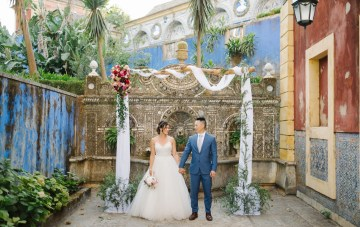 Magical Blue-Tiled Palace Wedding In Portugal