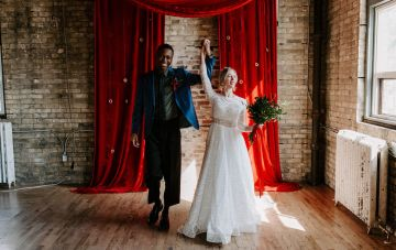 Bold Industrial Wedding Inspiration With Russian Folk Details