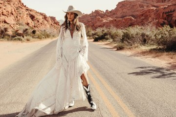 Rue de Seine Moonrise Canyon Wedding Dress Collection – Harvest Moon Gown 3