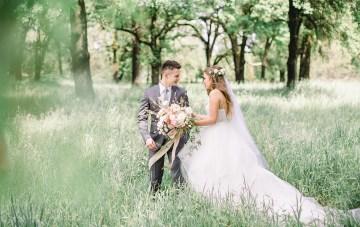 Whimsical Floral-Filled Woodland Wedding