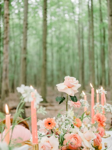 Whimsical Pantone Living Coral Colorful Meadow Wedding Inspiration – Kira Nicole Photography 17