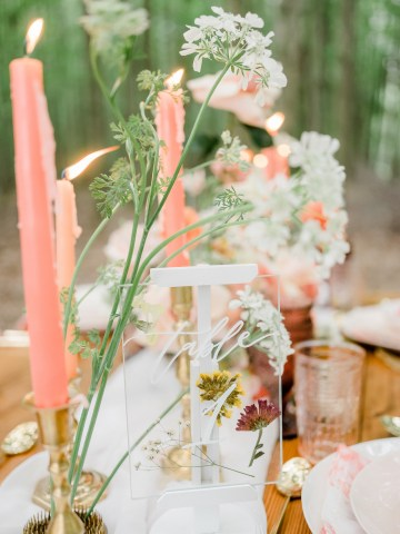 Whimsical Pantone Living Coral Colorful Meadow Wedding Inspiration – Kira Nicole Photography 23