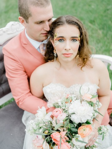 Whimsical Pantone Living Coral Colorful Meadow Wedding Inspiration – Kira Nicole Photography 38