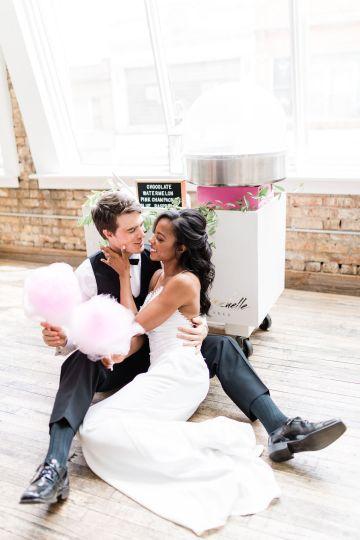 Adorable Loft Wedding Inspiration with a Cotton Candy Cart – Grey Garden Creative 24