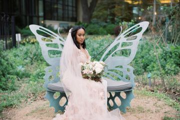 Pretty Texas Garden Wedding With A Blush Pink Wedding Dress – Deven Ashley 9