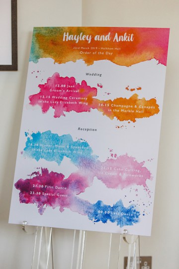 Regal and Colorful Indian Wedding with Watercolor Details – Chris Taylor 25