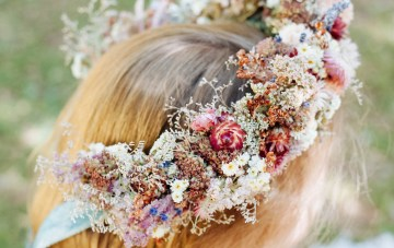 10 Beautiful Dried Flower Crowns You Can Buy on Etsy – Idyllwild Studio – Colorful Dried Flower Crown
