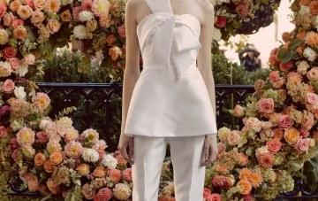 15 Wedding Dresses With Bows Spotted At Bridal Fashion Week – Lela Rose Bridal – Vogue – Lara Jade