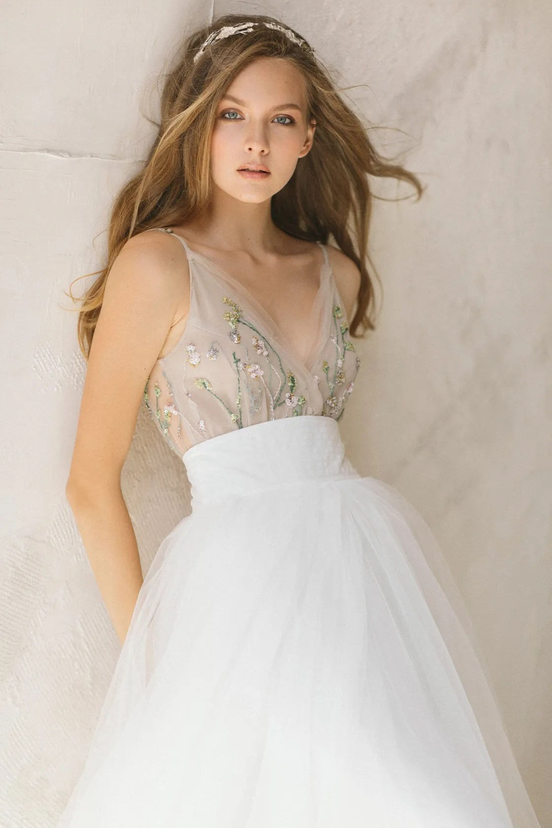Ivory Tulle Skirt bridal skirt engagement skirt, tea-length tulle skirt wedding separates midi skirt