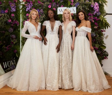 Showstopping Dazzling WONA Bridal Wedding Dresses – NYC Showroom 5
