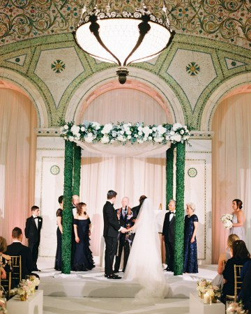 Gorgeous Green and Pink Chicago Ballroom Wedding – Clary Pfeiffer Photography – LOLA Event Productions 28