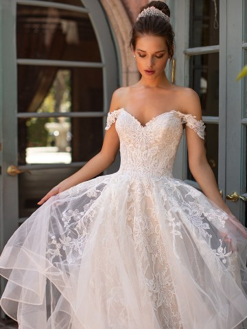 10 Gorgeous Ball Gown Wedding Dresses – Moonlight Bridal – H1428-3QF