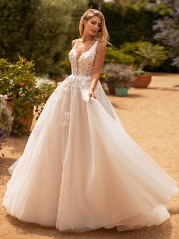10 Gorgeous Ball Gown Wedding Dresses – Moonlight Bridal – J6778-F