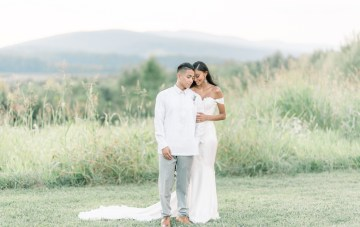 Virginia High School Sweethearts' Elegant Countryside Wedding
