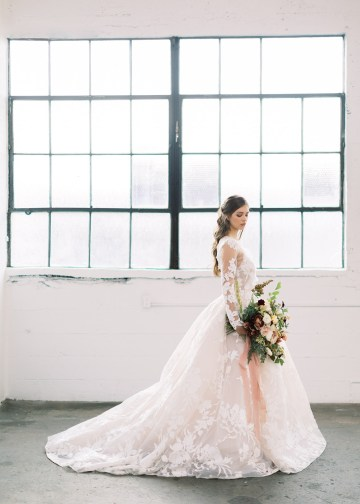 Mauve Fig Wedding Inspiration with a Gorgeous Ballgown Wedding Dress – Maricle King 20