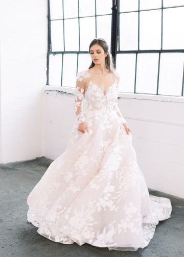 Mauve Fig Wedding Inspiration with a Gorgeous Ballgown Wedding Dress – Maricle King 21
