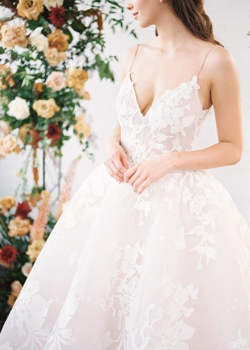 Mauve Fig Wedding Inspiration with a Gorgeous Ballgown Wedding Dress – Maricle King 24