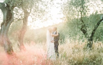 Ethereal Tuscan Destination Wedding With An Adorable Gelato Cart
