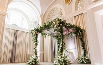 Ornate Jewish Wedding With The Bride's Grandmother's Dress