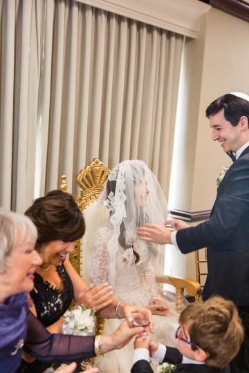 Ornate Jewish Ballroom Wedding with the Brides Grandmothers Wedding Dress – Danielle Harris Photography 48
