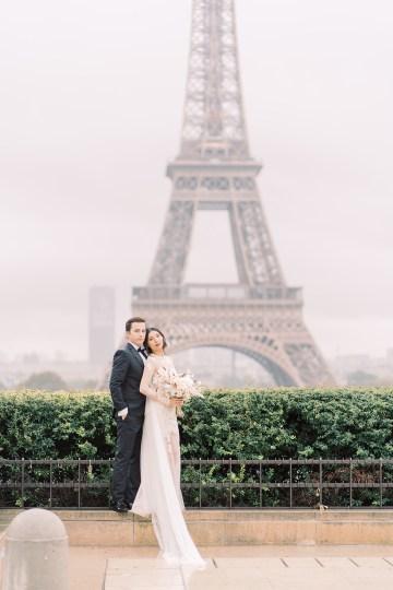 Rainy and Romantic Parisian Eiffel Tower Elopement Inspiration – Christine Grace Photography 25