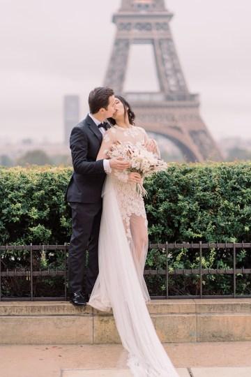 Rainy and Romantic Parisian Eiffel Tower Elopement Inspiration – Christine Grace Photography 27