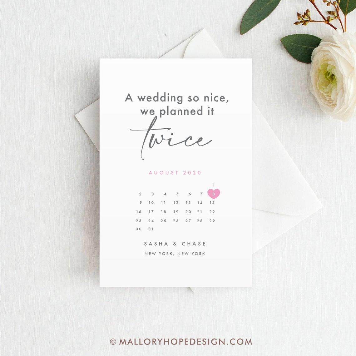 Wedding Postponement Card