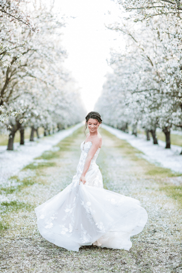 Whimsical Almond Orchard Blossom Wedding Inspiration – Playful Soul Photography 19