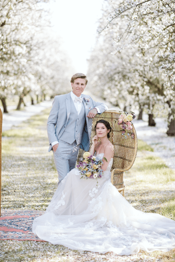 Whimsical Almond Orchard Blossom Wedding Inspiration – Playful Soul Photography 41