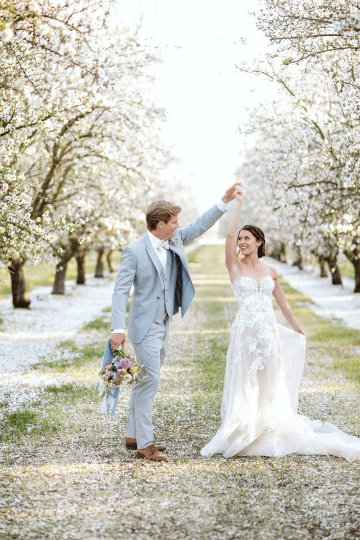 Whimsical Almond Orchard Blossom Wedding Inspiration – Playful Soul Photography 42