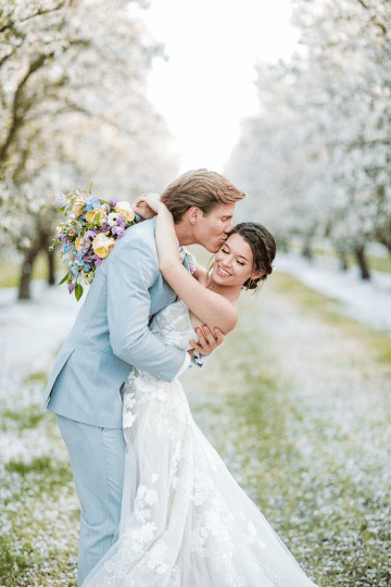 Whimsical Almond Orchard Blossom Wedding Inspiration – Playful Soul Photography 45