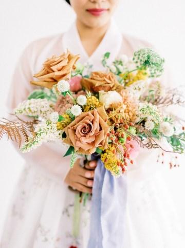 Modern Korean Wedding Inspiration – lilelements – Anadena Photography 58
