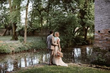 Bohemian Wildflower Wedding in Northern Italy – Margherita Calati – Castello di Paderna 11