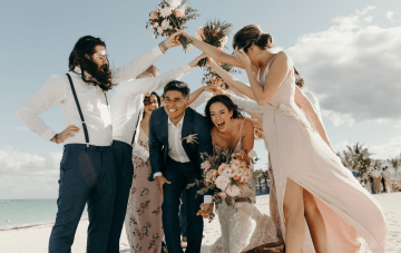 Windswept Wedding On The Beaches Of Riviera Maya