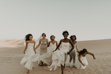 Desert Sand Dune Wedding Inspiration with Natural Hair Ideas for Black Brides – Tor Hawley – The LAW Bridal 5
