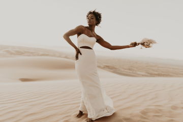 Desert Sand Dune Wedding Inspiration with Natural Hair Ideas for Black Brides – Tor Hawley – The LAW Bridal 9