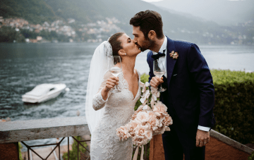 Romantic & Cinematic Lake Como Wedding