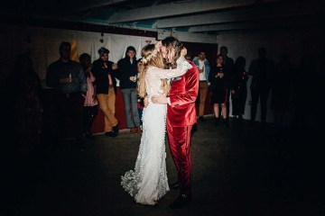 Pacific Northwest Rock and Roll Beach Wedding at The Funky Souwester Lodge – Claire Eliza Wedding Photography – Christina Castello and Drew Pull – Alexandra Grecco Dylan Gown 22