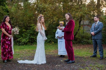 Pacific Northwest Rock and Roll Beach Wedding at The Funky Souwester Lodge – Claire Eliza Wedding Photography – Christina Castello and Drew Pull – Alexandra Grecco Dylan Gown 5