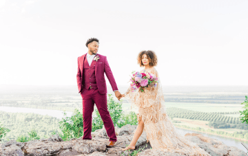 Now Is The Time To Elope On A Mountaintop In A Gold Wedding Dress