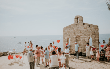 Quaint & Casual Seaside Croatian Wedding