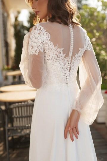 Feminine Simple Minimalistic Wedding Dresses by Mila Bridal 2020 2021 – Bridal Musings 45