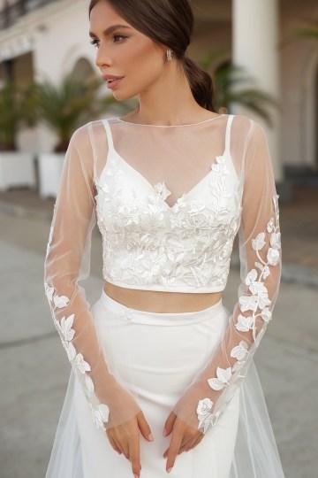 Feminine Simple Minimalistic Wedding Dresses by Mila Bridal 2020 2021 – Bridal Musings 54
