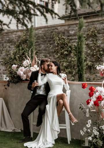 Fashion-forward Countryside Wedding Inspiration – Elmore Court – Laura Martha Photography 40