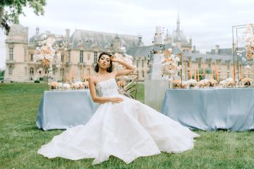 Princess Wedding Inspiration from France – Chateau Chantilly – Elizaveta Photography 7