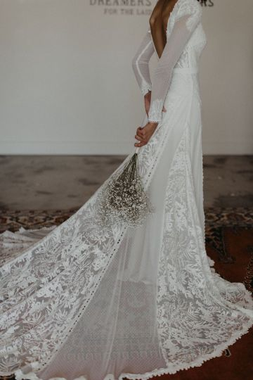 Dreamers and Lovers New Bohemian Wedding Dresses and LA Flagship Bridal Salon – Bridal Musings – Esther Boho Wedding Dress 2