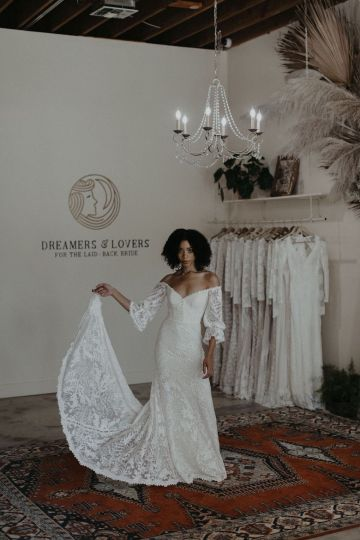 Dreamers and Lovers New Bohemian Wedding Dresses and LA Flagship Bridal Salon – Bridal Musings – Naomi Boho Wedding Dress 4