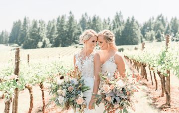 Feminine LGBTQ+ Wedding Inspiration At Sweet Cheeks Winery